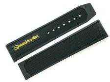 Replacement Omega Speedmaster Racing Black and Orange 19mm Rubber Watch Band
