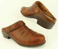 Ariat Sport Mule Havana Brown Leather Clog Slip On Slide Loafer Women's 7.5 B