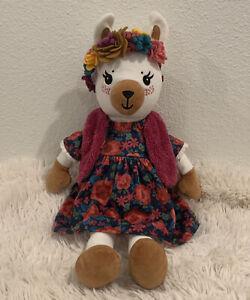 Matilda Jane LOVELY LLAMA Doll Stuffed Animal Plush + Dress Headband Vest Outfit