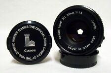 Vintage CANON FD f/1.8 50mm Prime Lens SLR Film Camera w/Caps #1314465 Minty