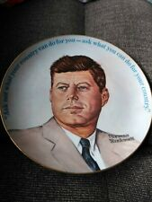Tribute to John F. Kennedy commemorate plate.  1963- 1983.  Norman Rockwell.