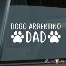 Dogo Argentino Dad Sticker Die Cut Vinyl - argentine mastiff dog