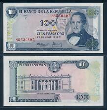 [96304] Colombia 1971 100 Pesos Oro Bank Note UNC P415