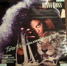 Diana Ross Promotional Promo Poster Eaten Alive Rca 1985 Mint! Rare!