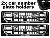 2 x Doming CAR Number Plate Surround Holder Frames BEST FIT for LAND ROVER