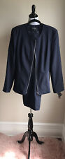 Dark Blue Women's Emily Two Piece Suit With Pant Size 10