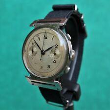 VALJOUX 23 Chronograph Steel Flexible Lugs Vintage Watch Reloj Montre Orologio