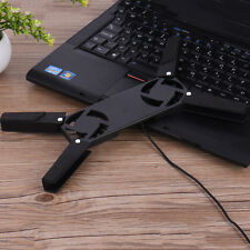 Folding USB Cooling Pad Stand Radiator 2 Cooler Fan For Laptop Notebook Portable