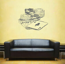ik1612 Wall Decal Sticker Cards Chips Casino Game Poker Game