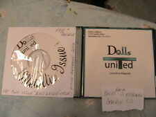 DOLLS UNITED Lot of 2 ISSUES ON CD *RARE OOP 2002 cloth art doll patterns, plus