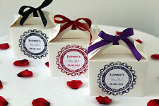 Personalised Vinatge Hen Party Wedding Christening Favour Gift Box Bag  HD1