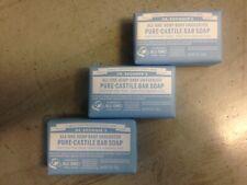 Dr. Bronners Pure Castile Bar Soap Hemp Unscented 3 Bars!