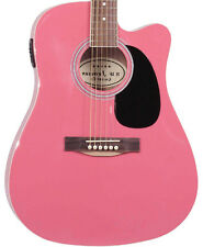 Demo Pink Acoustic Electric Guitar with Thinline Cutaway By Jameson 2nd Used