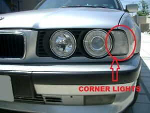 DEPO Euro M5 Clear Front Corner Signal Lights Set For 1989-1996 BMW E34 5 Series
