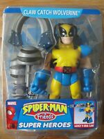 Marvel Spiderman & Friends Super Heroes CLAW CATCH WOLVERINE Figure Toy