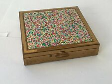 New listing Vintage Zell Compact Confetti Multi Color Glitter Lid Powder Compact