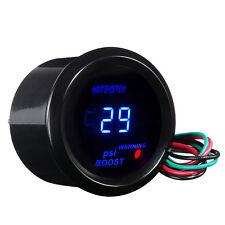 """HOTSYSTEM 2"""" 52mm Blue Digital LED Electronic PSI Boost Gauge For Car Motor Sale"""