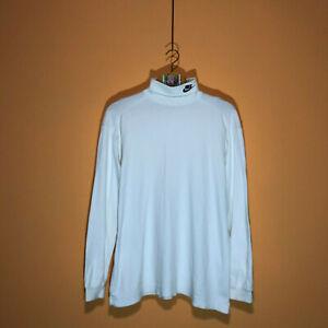90s Vintage White Nike Turtleneck Long Sleeve Shirt