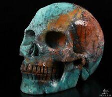 "GEMSTONE 5.0"" AMERICAN CHRYSOCOLLA Carved Crystal Skull, Crystal Healing"