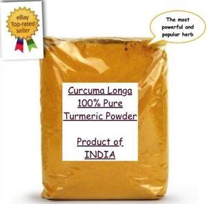 100% Pure Premium Turmeric Powder - Curcuma Longa Spice Curcumin Bulk Super Food
