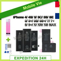 BATTERIE INTERNE 0 CYCLE NEUVE POUR IPHONE 4 5 5C 5S SE 6 6S 7 8 PLUS X XR XSMAX