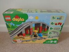 DUPLO Train Bridge & Straight Track x 8  and figure 10872 New