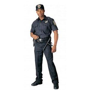Rothco 30020 Men's Navy Blue Short Sleeve Uniform Shirt
