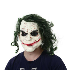 Halloween Joker mask Cosplay Horror Scary Clown Mask with Green Ha 2Y