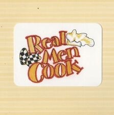 "SCRAPBOOK WIZARDS DIE CUT    "" REAL MAN COOK ""   TITLE"