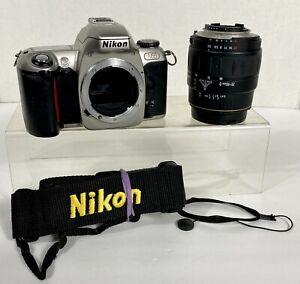 Nikon N65 35mm SLR Film Camera Quantaray 28-90mm f3.5-5.6 Lens w/Strap & Case