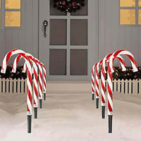 Christmas Pathway Candy Cane Light Walkway Decor Candy Light