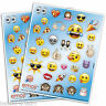 4 Official Emoji Smiley Face Birthday Party Favours Loot Gifts Stickers Sheets