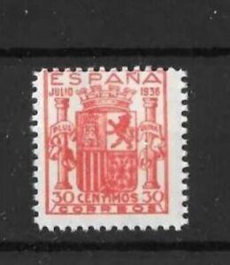 España 1936 Edifil 801 ** 30 Cts. Rojo. Escudo de Granada. Fantasia Filatelica