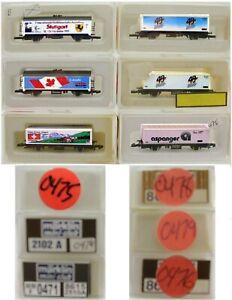 MARKLIN Z SCALE M/M 0471-474-475-476-478-479  6 COLLECTOR Frt Cars Marklin BoxC8