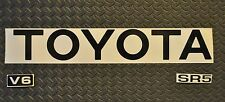 NEW! REFLECTIVE BLACK  89-95  TOYOTA TRUCK TAILGATE LOGOS DECAL    pickup
