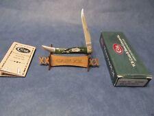 Case 2000 Texas Toothpick Knife Hunter Green Bone Handles Mint In Box CA03500