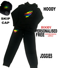 Youth kids RAINBOW COLOURED Preston Styles MERCH Snapback Skip Cap hoody Joggies