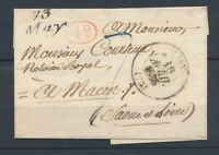 1835 Lettre Cursive 73 May + CAD T13 LISY SEINE&MARNE(73) SUP. P3208