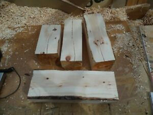 Zirbenholz 4 Blöcke Gewicht ca. 12 KG