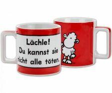 Sheepworld Wortheld Tasse Lächle! Kaffeetasse Kaffeebecher Geschenk
