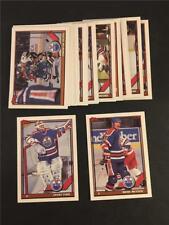 1991/92 Topps Edmonton Oilers Team Set 22 Cards