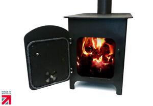 Wood Burning Stove Log Burner Heater for Workshop Cabin Patio Garage Barn Black