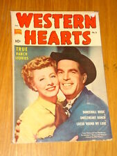WESTERN HEARTS #6 VG+ (4.5) STANDARD COMICS FRED MACMURRAY IRENE DUNN MARCH 1951
