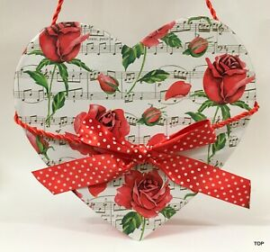Gift Box Heart Shape Red Roses Bow 20x20x7 CM Packaging