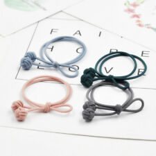 4pcs Solid Double Knot Elastic Hair Ring Hair Rubber Band Headband Hair Band