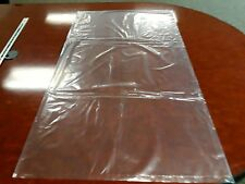 """New listing Pack of 50 Extra Large 24x42"""" Clear Poly Bags"""