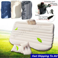 Inflatable Car Back Seat Mattress Protable Travel Camping Air Bed Rest  SO