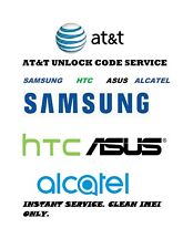 Instant AT&T USA Network Unlock Code for Samsung, HTC and ASUS Clean IMEI only