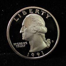 1991 Proof Washington Quarter GEM Deep Cameo DCAM