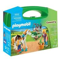 Playmobil Country Horse Grooming Carry Case Building Set 9100 NEW Learning